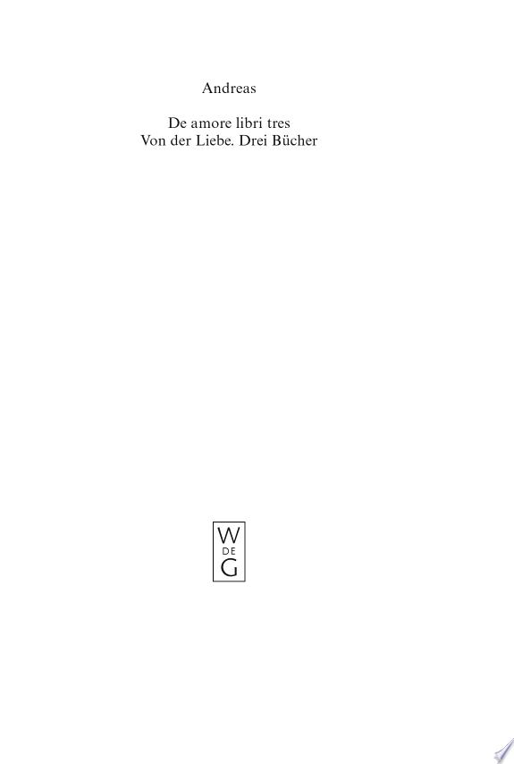 De Amore / Von Der Liebe