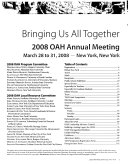 OAH Annual Meeting Book