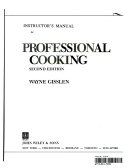 Professional Cooking  Teacher s Manual