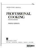 Professional Cooking  Teacher s Manual Book