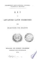 Elementary  Advanced  Latin exercises  Key to Advanced Latin exercises