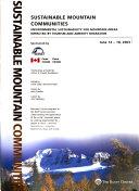 Sustainable Mountain Communities Book