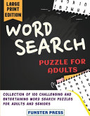 WORD SEARCH PUZZLE FOR ADULTS
