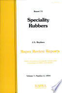 Speciality Rubbers Book