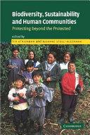 Biodiversity  Sustainability and Human Communities