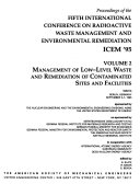 Proceedings of the     International Conference on Radioactive Waste Management and Environmental Remediation