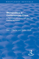 Micropolitics in Contemporary China