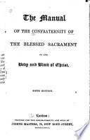 The Manual of the Confraternity of the Blessed Sacrament