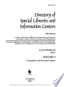 Directory of Special Libraries and Information Centers, [2003]