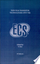 Thin Film Transistor Technologies Tftt Vii  Book PDF