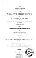 The exposition of the Vedanta philosophy  by H  T  Colebrooke     vindicated  a refutation of certain published remarks of colonel Vans Kennedy  in the Asiatic journal