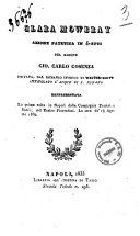 Clara Mowbray azione patetica in 4 atti imitata dal romanzo storico di Walter Scott intitolato L'acque di S. Ronano del barone Gio. Carlo Cosenza