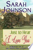 Just to Hear  I Love You  Book