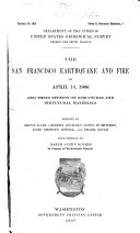 The San Francisco Earthquake And Fire Of April 18 1906
