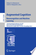 Augmented Cognition  Neurocognition and Machine Learning