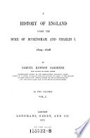 A History of England under the Duke of Buckingham and Charles I Pdf/ePub eBook