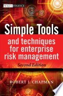 Simple Tools And Techniques For Enterprise Risk Management Book PDF