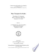 Mass Transport in Oxides