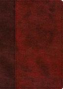 ESV Single Column Journaling Bible  Large Print  Trutone  Burgundy Red  Timeless Design