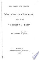 Mrs  Merriam s Scholars Book