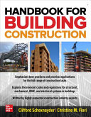 Handbook for Building Construction