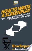 How To Write a Screenplay Book PDF