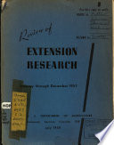 Review Of Extension Research