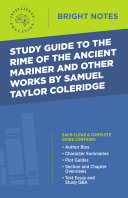 Pdf Study Guide to The Rime of the Ancient Mariner and Other Works by Samuel Taylor Coleridge Telecharger