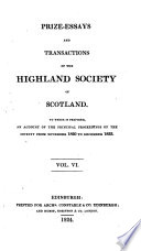 prize essays and transactions of the highland society of scotland