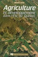 Pdf Agriculture et développement dans l'est du Québec Telecharger
