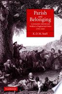 Parish and Belonging
