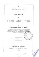 An Introduction to the Study of Gothic Architecture Book