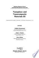 Nanophase and Nanocomposite Materials III
