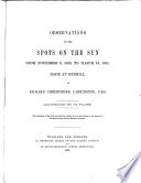 Observations of the Spots on the Sun Book