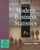An Introduction to Modern Business Statistics Book