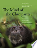 The Mind of the Chimpanzee Book