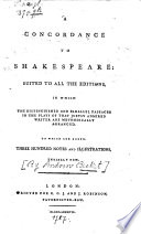 Concordance To Shakespeare