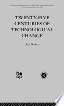 Twenty Five Centuries of Technological Change