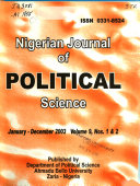 Nigerian Journal Of Political Science