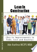 Lean In Construction Book