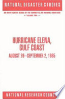 Hurricane Elena Gulf Coast August 29 September 2 1985