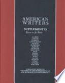 American Writers: Susan Howe to Gore Vidal