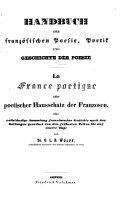 Handbuch der französischen Poesie, Poetik und Geschichte der Poesie