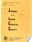 Journal of the Indian Chemical Society  , Volume 56