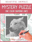 Beautiful Animals Mystery Puzzle One Color Diamond Lines
