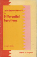 Introductory Course In Differential Equations Book