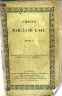 Milton's Paradise Lost. Book 1, 2, 4 and 7