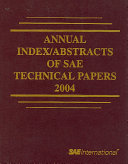 Annual Index Abstracts of Sae Technical Papers  2004 Book