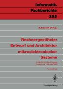Rechnergest  tzter Entwurf und Architektur mikroelektronischer Systeme
