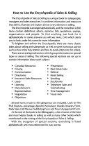 Encyclopedia of Sales   Selling